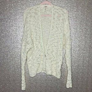 Free People Sz S Cream Cardigan Chunky Sweater
